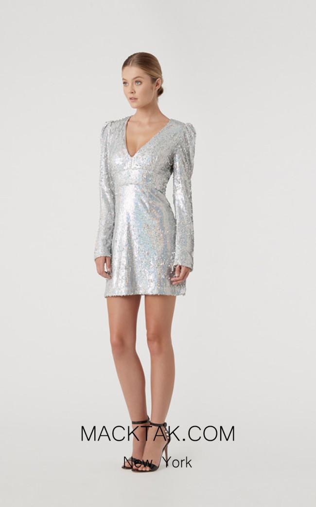 Rachel Gilbert RG60616 Silver Front Evening Dress