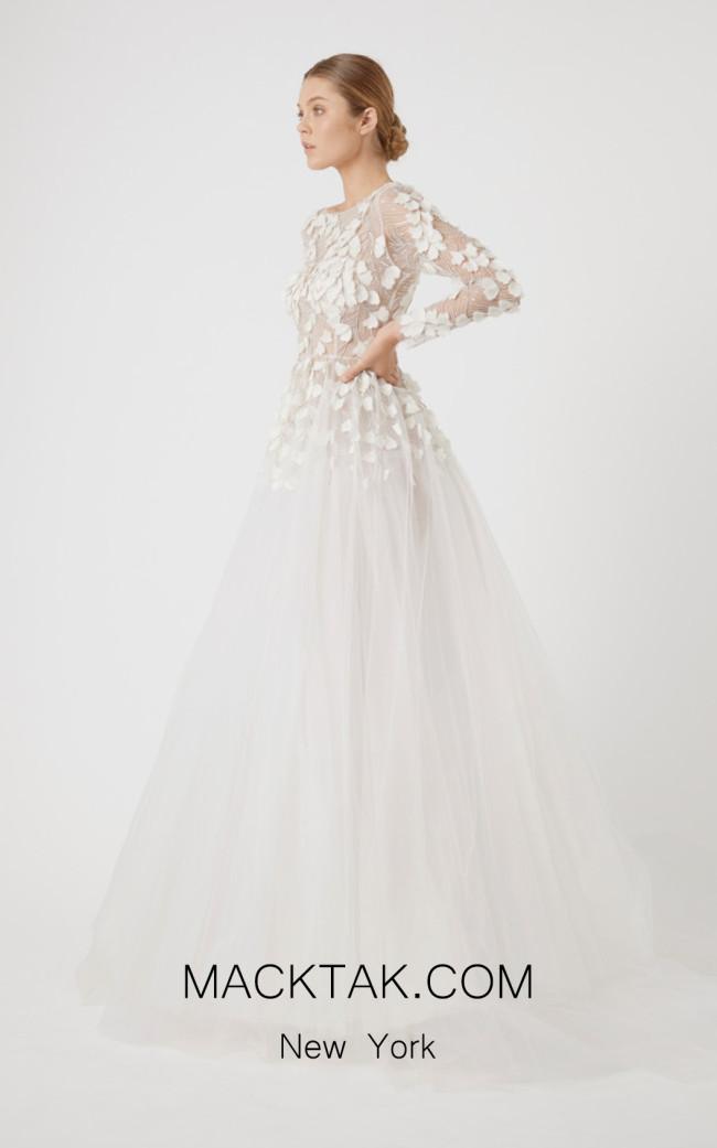 Rachel Gilbert RG60623TS Ivory Front Evening Dress