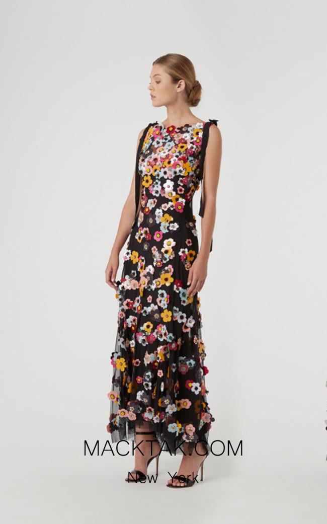 Rachel Gilbert RG60633 Black Front Evening Dress