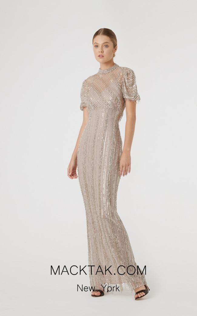 Rachel Gilbert RG60634 Silver Front Evening Dress