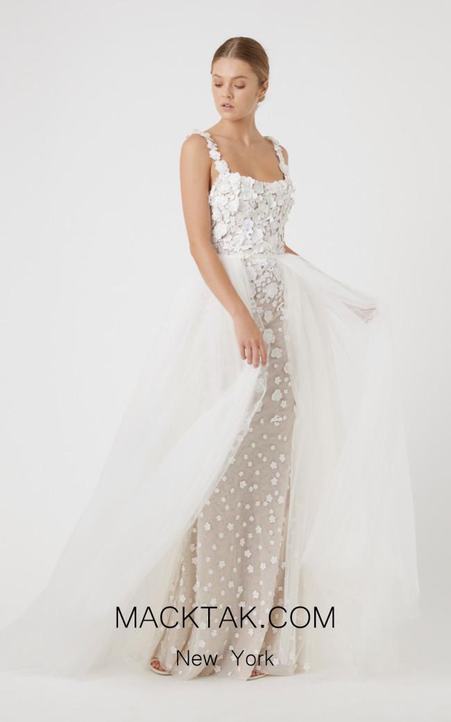 Rachel Gilbert RG70099 Ivory Front Evening Dress