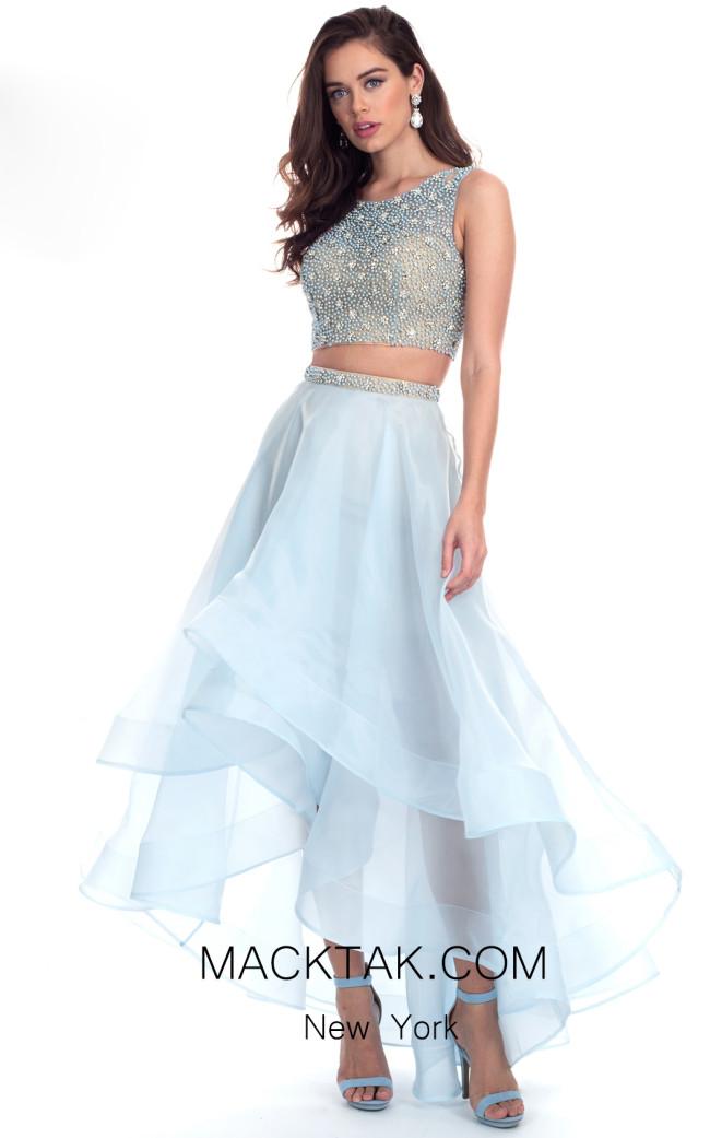 Rachel Allan 6553 Cinderella Blue Front