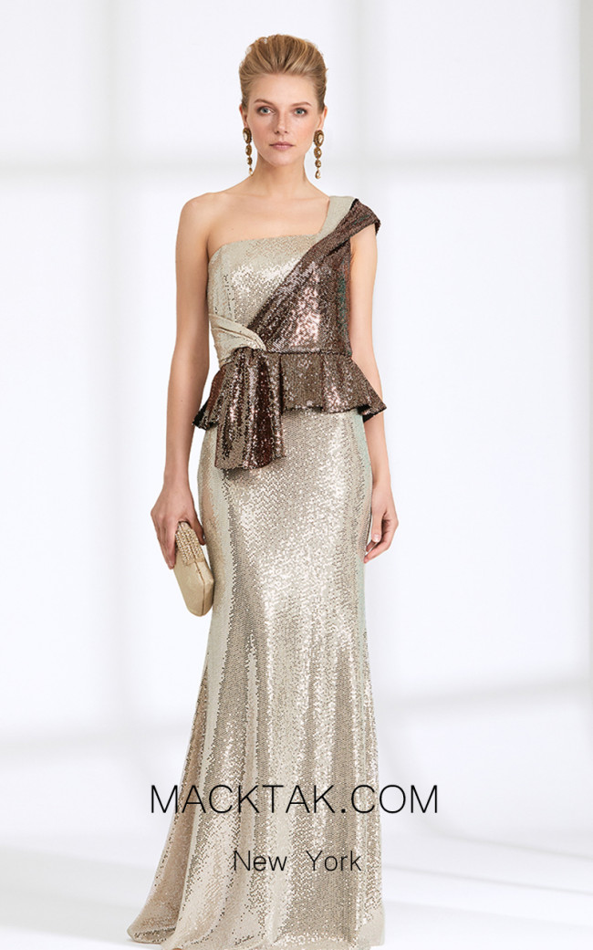 Rengin 5544 Pink Front Dress