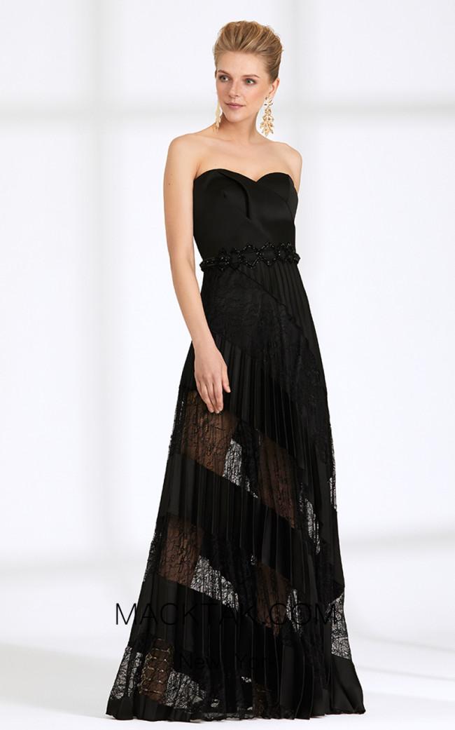 Rengin 5564 Black Front Dress