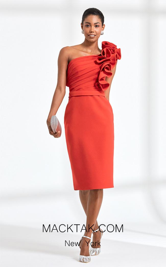 Rengin 5586 Pink Front Dress