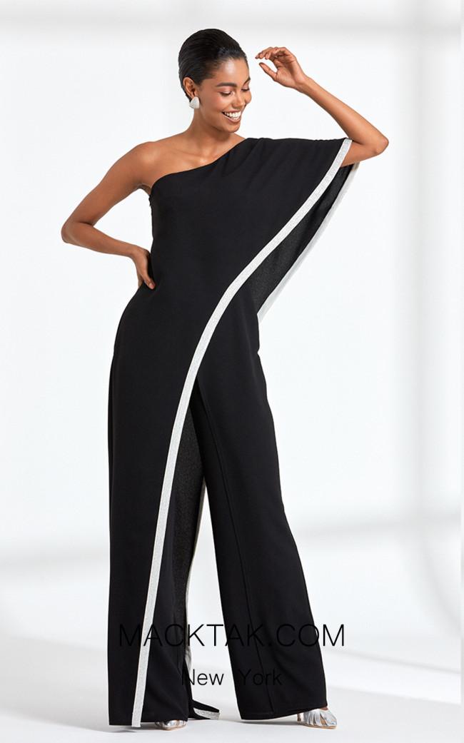 Rengin 5588 Black Front Dress