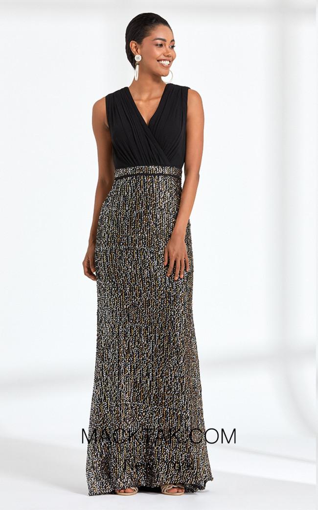 Rengin 5591 Black Front Dress