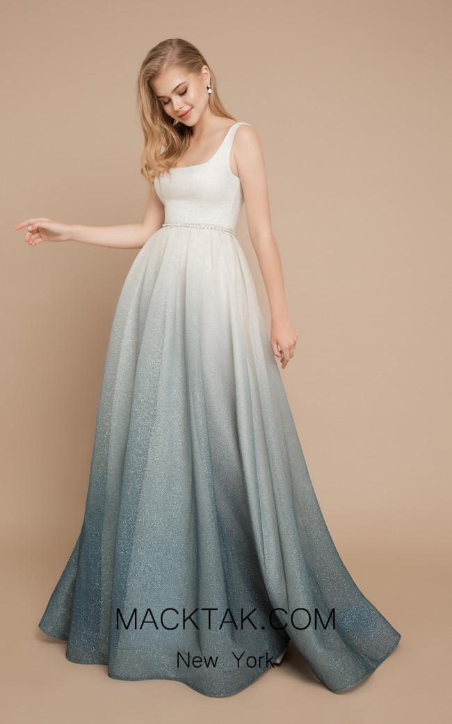 Ricca Sposa Heaven Green Ivory Front Dress