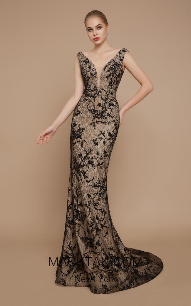 Ricca Sposa Jovanni Black Gold Front Dress