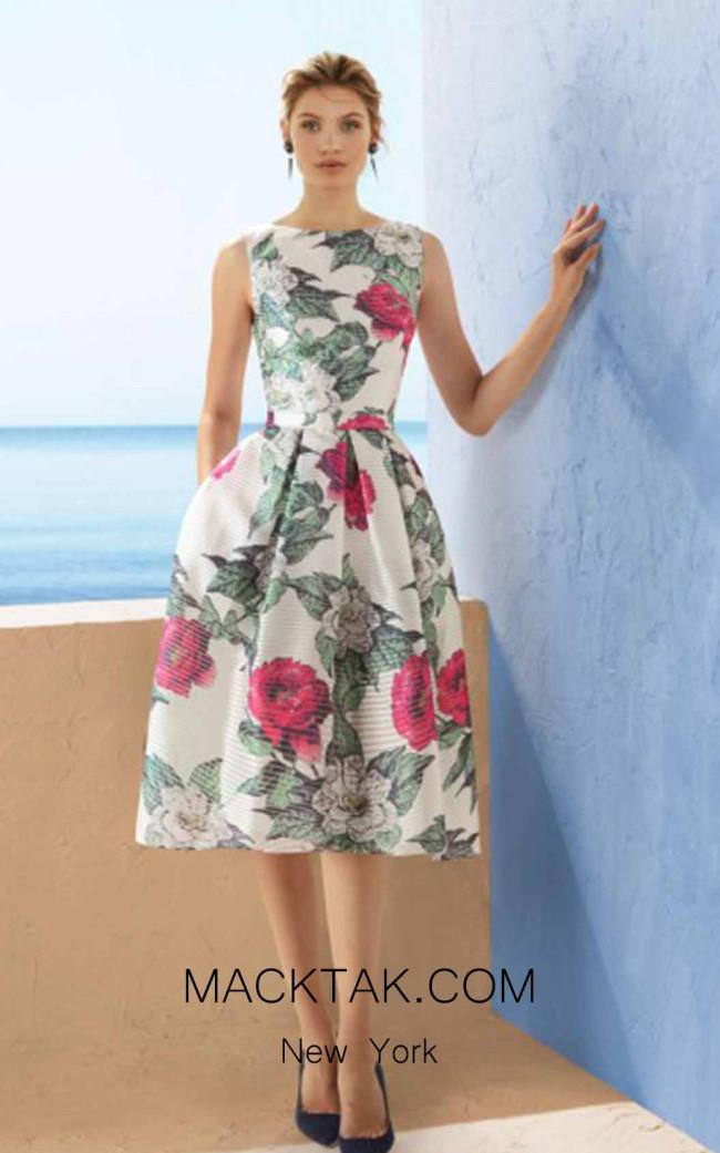 Rosa Clara Marfil 3J190 Front Dress