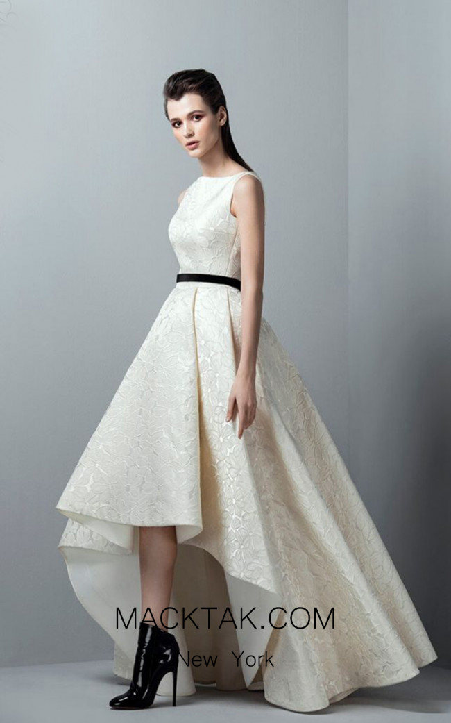 Saiid Kobeisy RE3357 Ivory Front Evening Dress
