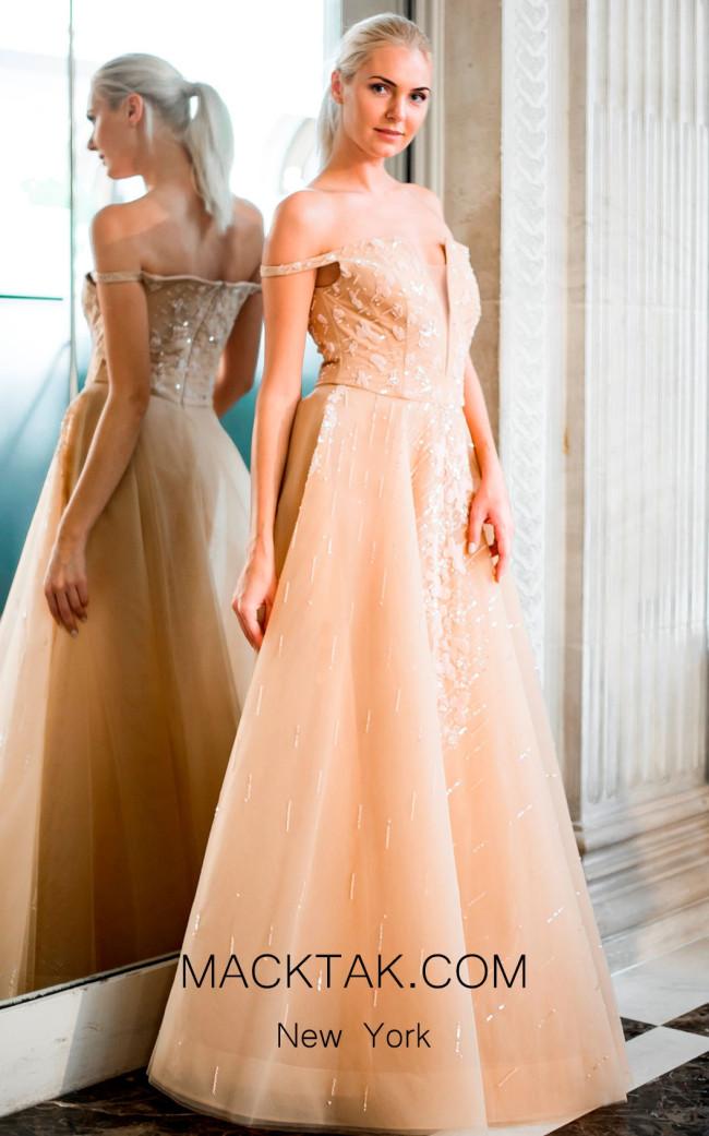 Sana Sabini 9258A Front Evening Dress
