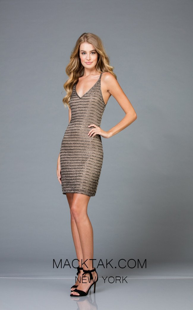 Scala 48877 Lead Front Cocktail Dress