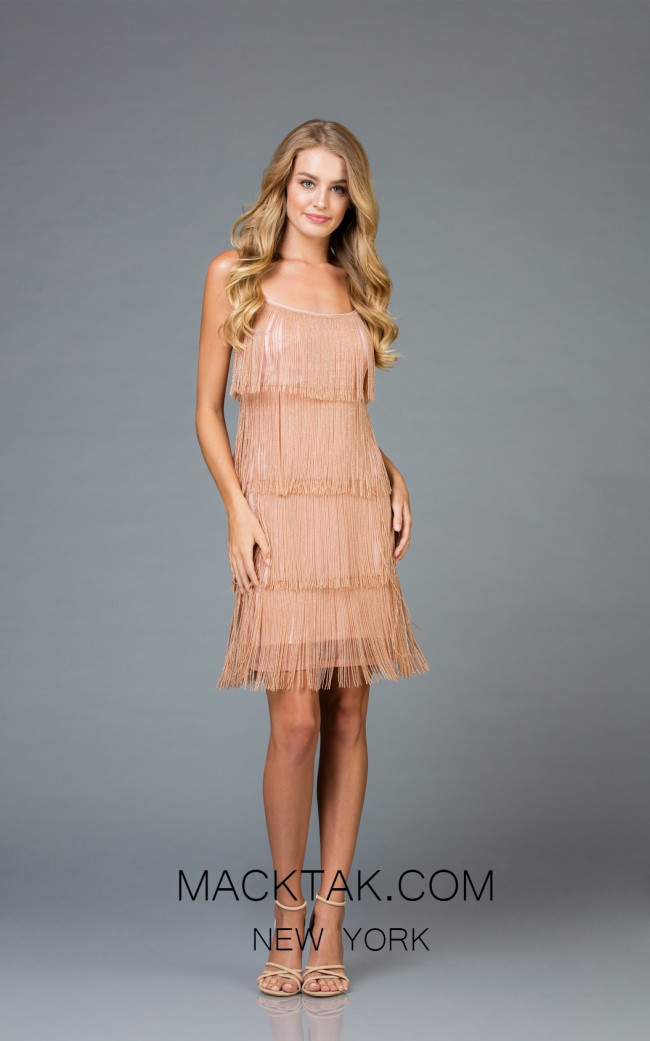 Scala 48914 Almond Front Cocktail Dress+