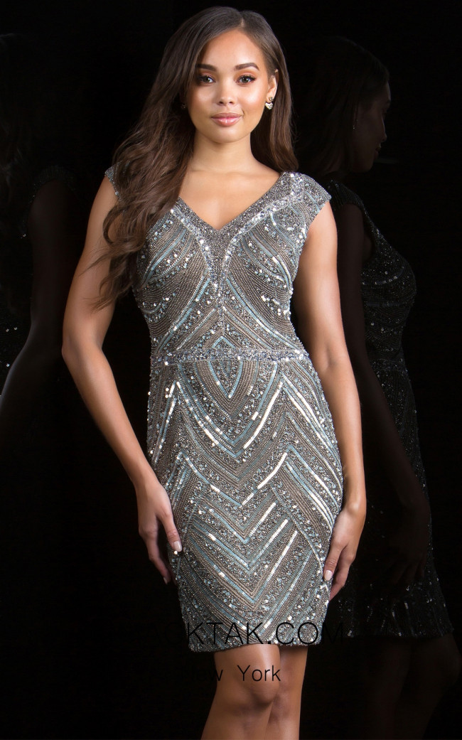 Scala 48763 Lead Front Evening Dress