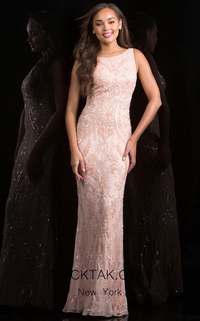 Scala 48784 Blush Front Evening Dress