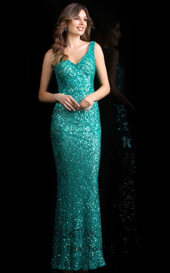 Scala 48790 Jade Front Evening Dress