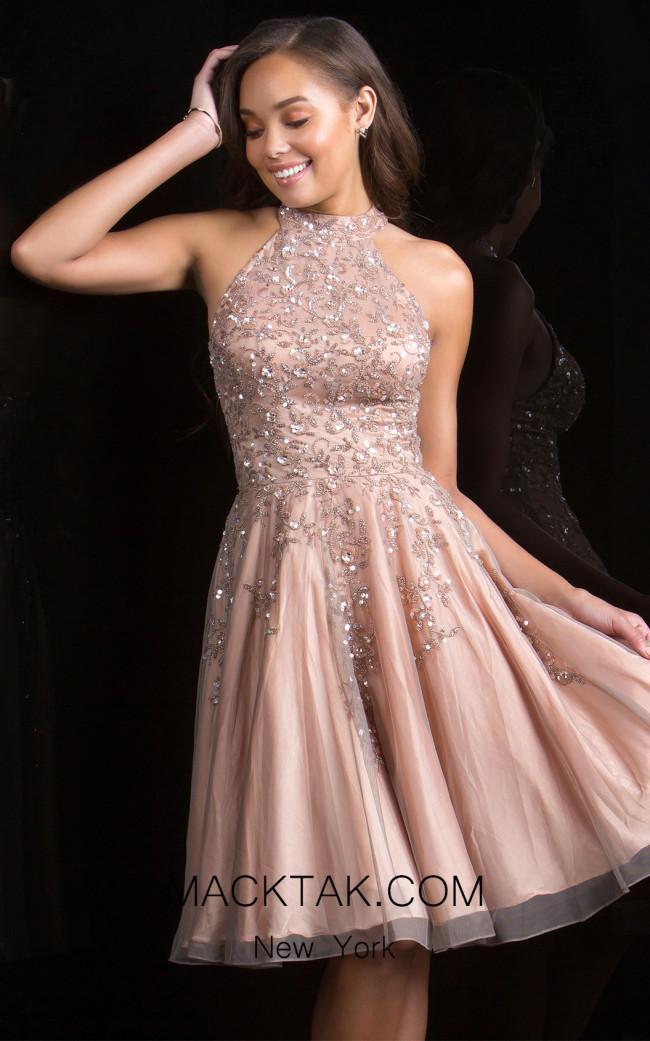 Scala 48822 Almond Front Dress Evening Dress