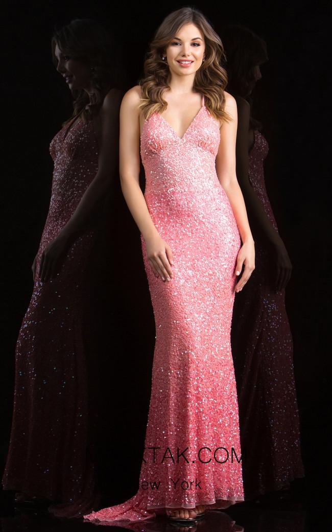 Scala 48848 Flamingo Front Evening Dress