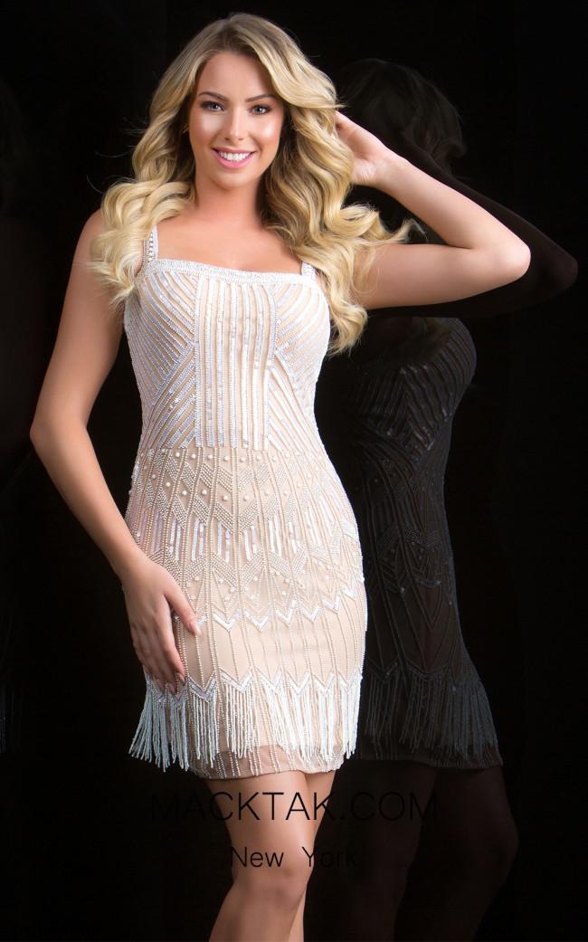 Scala 48849 Almond Front Evening Dress