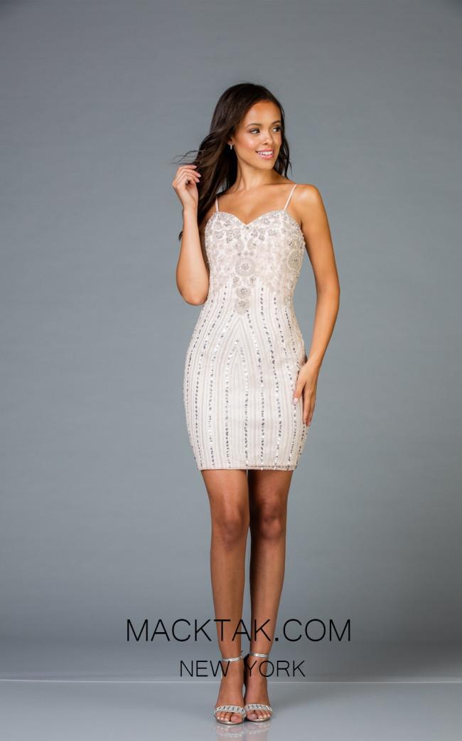 Scala 48953 Petal Front Cocktail Dress