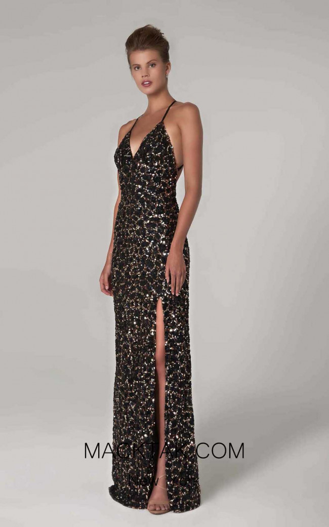 Scala 60073 Leopard Front Dress