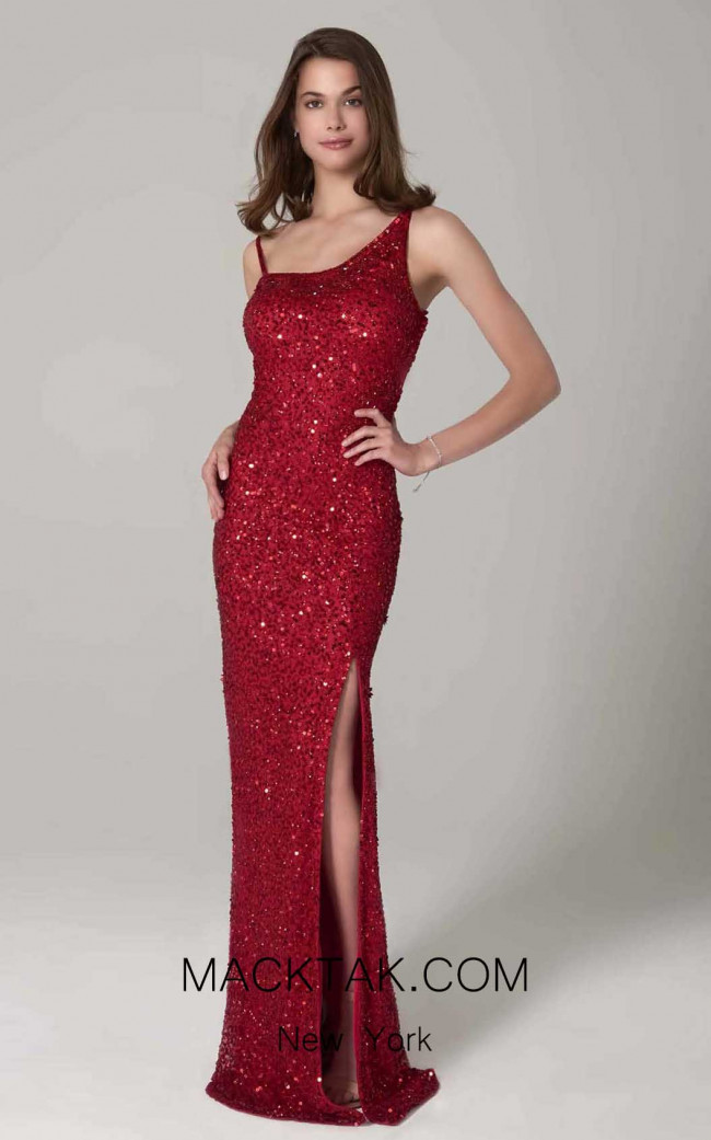 Scala 60081 Red Front Dress