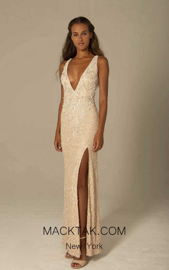 Scala 60082 Champagne Front Dress