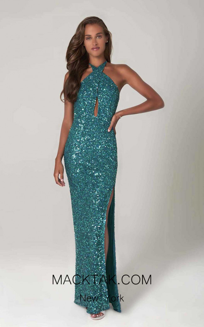 Scala 60090 Emerald Front Dress