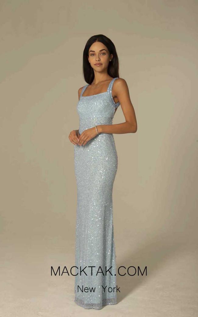 Scala 60095 Ice Blue Front Dress