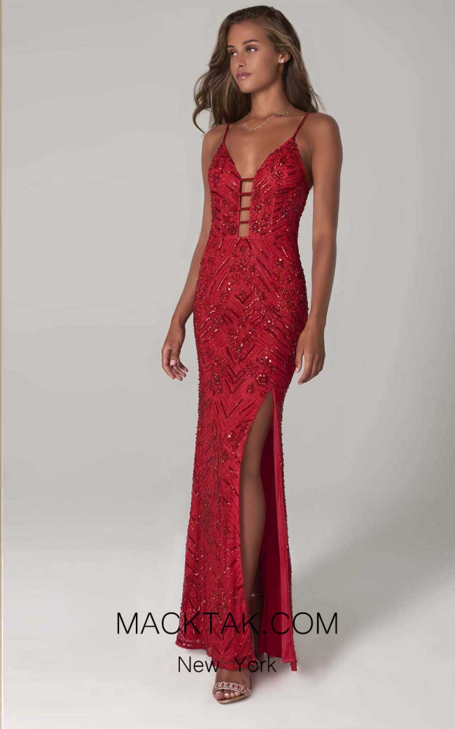 Scala 60101 Red Front Dress