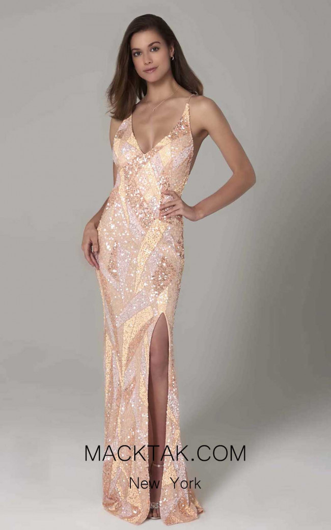 Scala 60106 Blush Front Dress