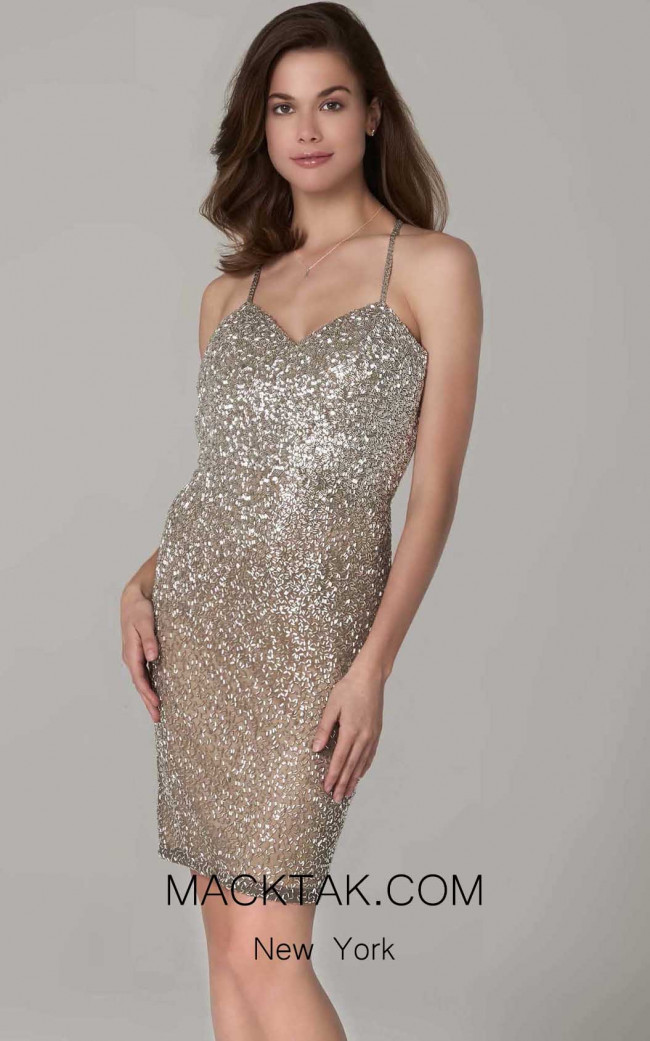 Scala 60108 Lead Silver Front Dress