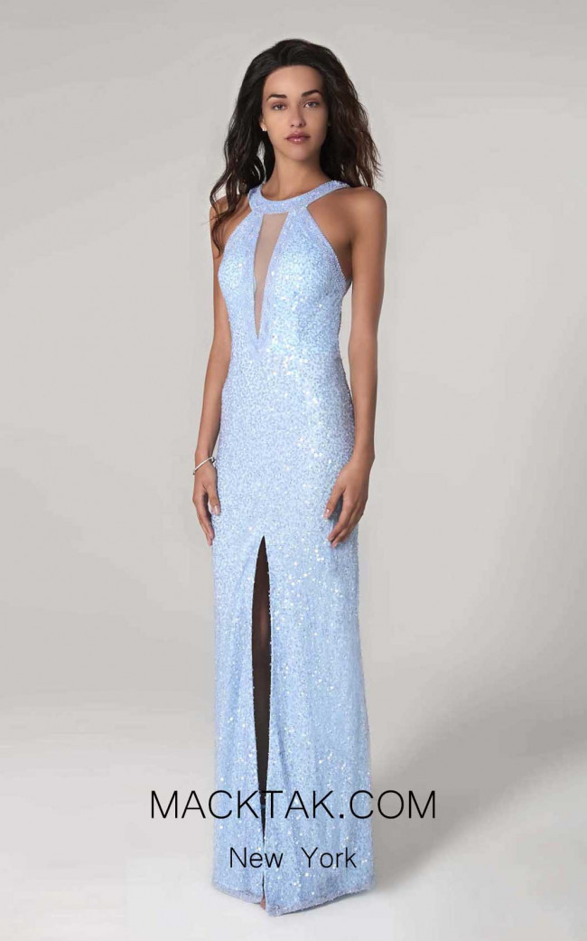 Scala 60113 Ice Blue Front Dress