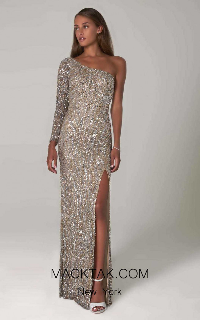 Scala 60128 Gold Silver Front Dress