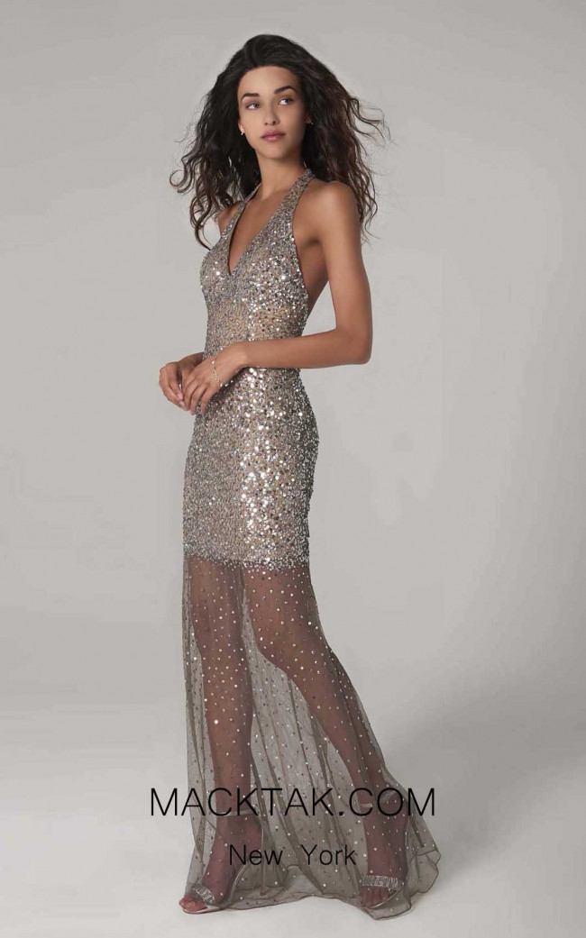 Scala 60130 Lead Silver Front Dress