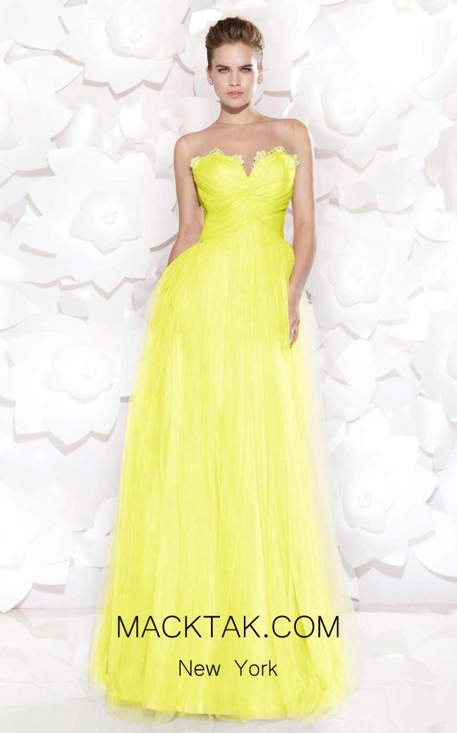Tarik Ediz 92517 Yellow Front Dress