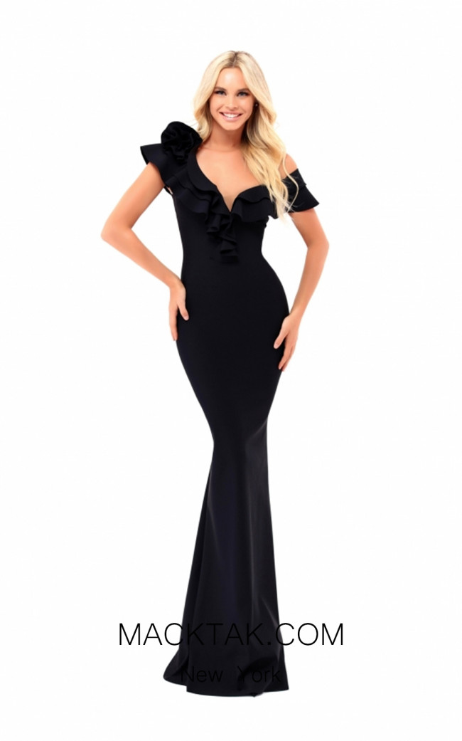 Tarik Ediz 50206 Black Dress