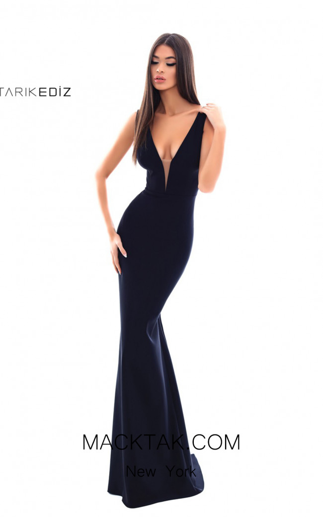 Tarik Ediz 50349 Black Front Dress
