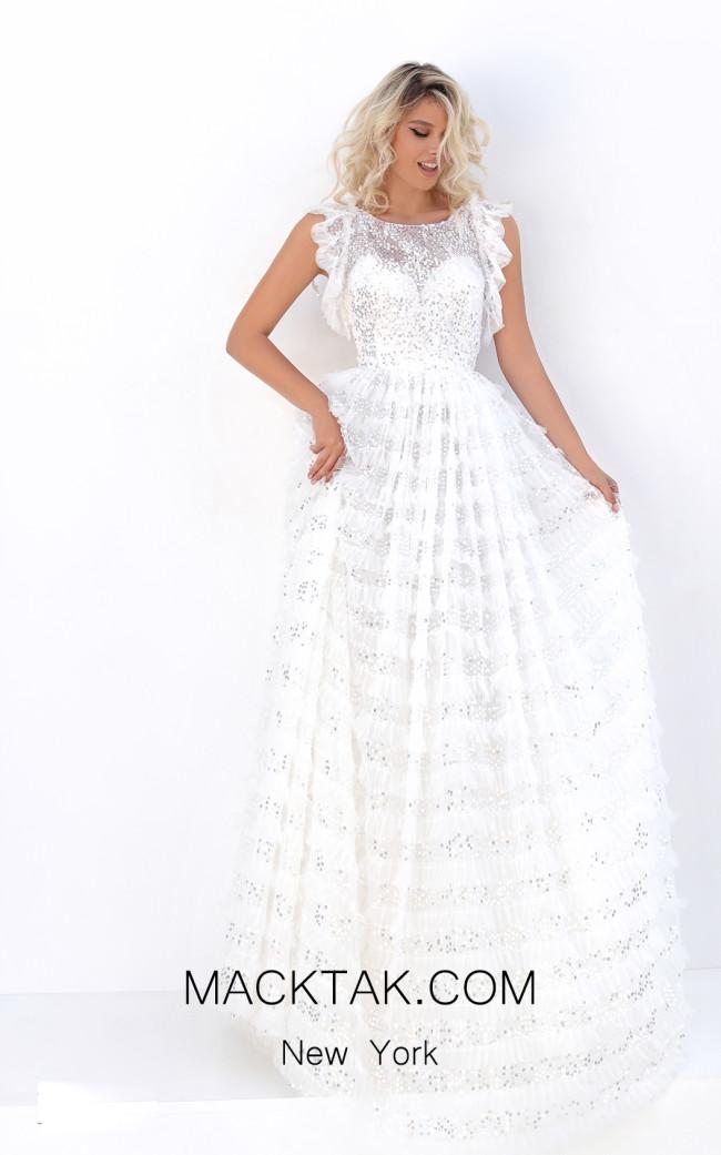 Tarik Ediz 50711 Ivory Front Dress