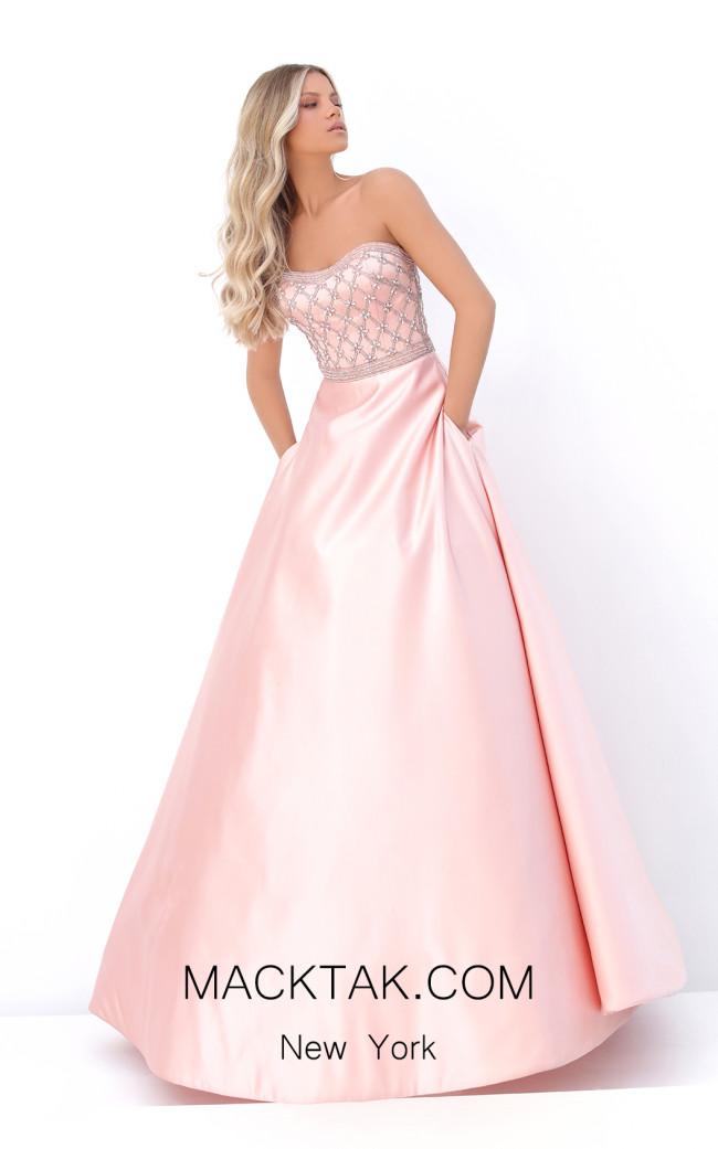 Tarik Ediz 50713 Pink Front Dress
