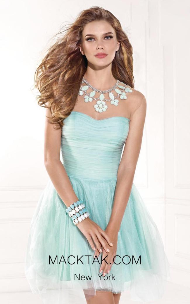 Tarik Ediz 90357 Front Blue Dress