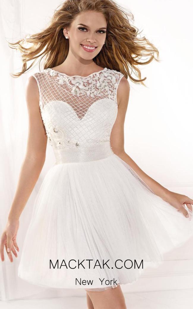 Tarik Ediz 90358 Front White Dress