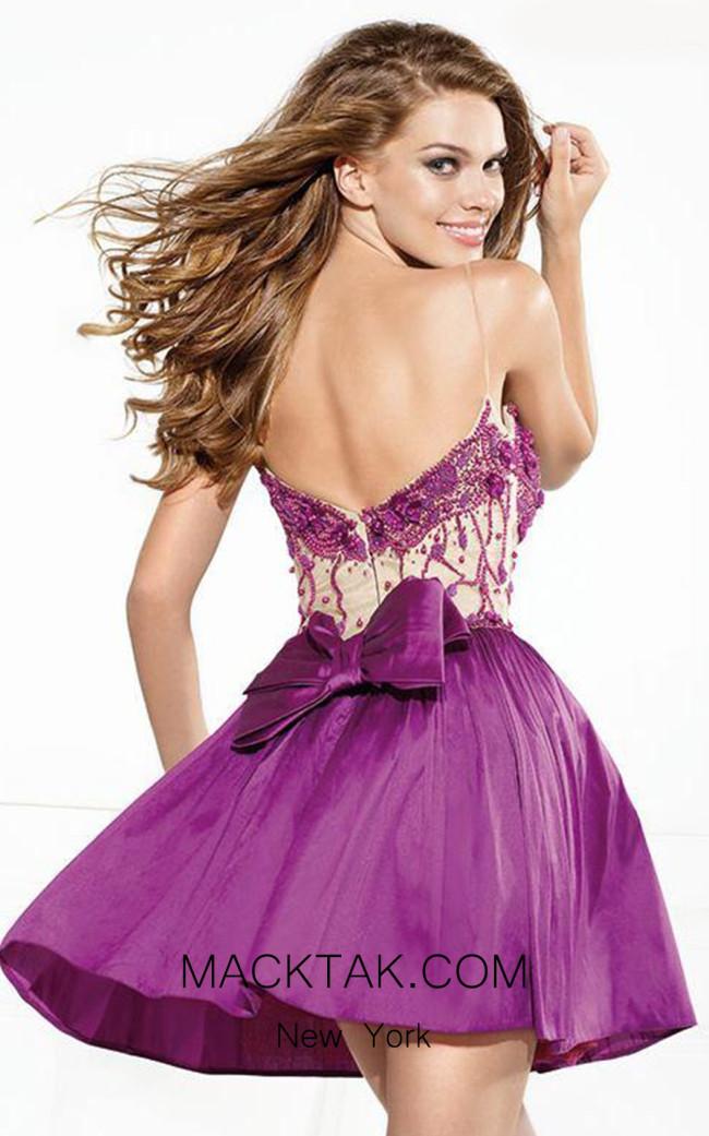 Tarik Ediz 90378 Back Purple Dress