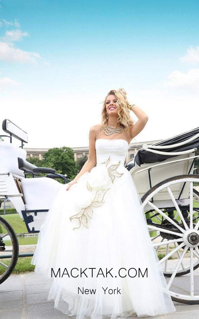 Tarik Ediz 92322 Front White Dress