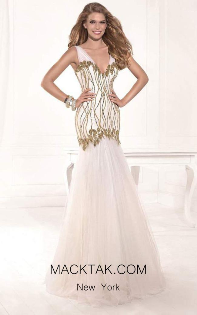 Tarik Ediz 92382 Front Print Dress