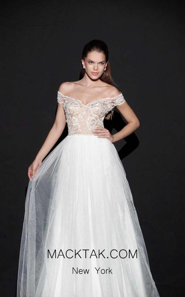 Tarik Ediz 92501 Front White Dress