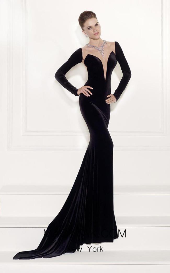 Tarik Ediz 92518 Black Front Dress