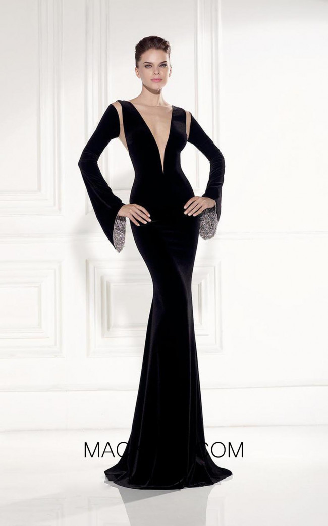Tarik Ediz 92519 Front Black Dress