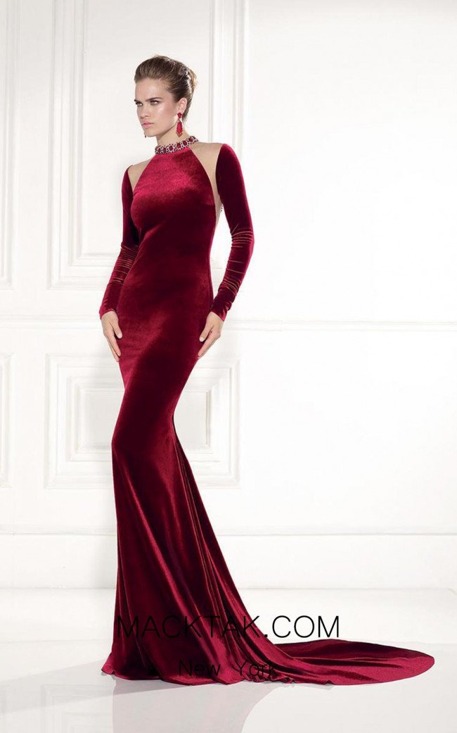 Tarik Ediz 92520 Front Red Dress